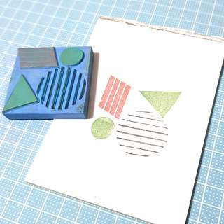 Shapes rubber stamp