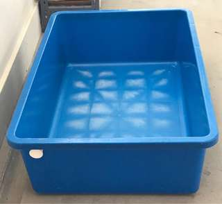 Used Blue Tank container (90cm by 60cm by 25cm)
