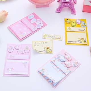 🚚 SANRIO STICKY MEMO PAD  / POST IT / STICK MARKER @ $1.70 PER BOOKLET OR ALL 4 DESIGNS FOR $6  ONLY!!! READY STOCKS!