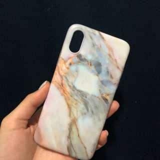 iPhone x 雲石電話殼