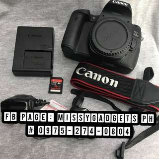 Canon eos 760d body only with accessories