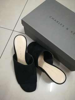 Charles & Keith Open Toe Slip On Heels