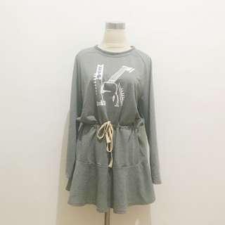 [NEW] Terusan Abu-Abu Dress