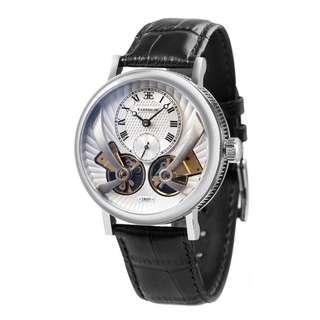 英國213年製錶老牌《🇬🇧英國安梭EARNSHAW》安梭雙刀黑武士!42mm雙擺輪自動機械男錶.小秒針顯示!全球聯保兩年.50米防水 專櫃價$4950