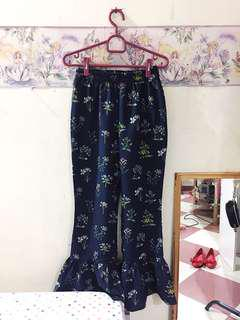 Navy Mermaid Floral Pants