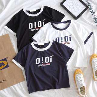 🚚 [PO] OiOi Inspired Raglan Crop Top