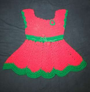 Strawberry crochet dress