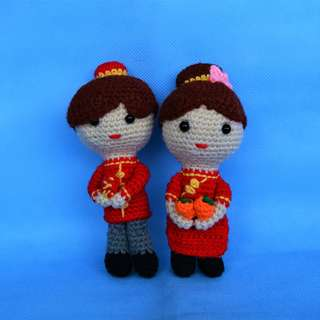Amigurumi Couple Dolls in Chinese Traditional Costumes
