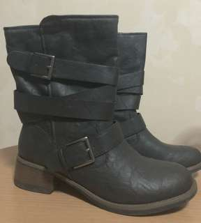 Brash Leather Boots