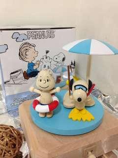 🚚 音樂盒 史努比 Peanuts Snoopy & Friends 木頭立體公仔 潛水史努比 游泳奈勒斯 夏日胡士托