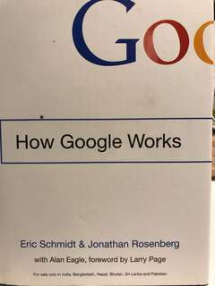 How Google Works (hard cover)