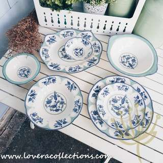 English Pheasant Dining & Serving Plates & Bowls & Platter Dinnerware Tableware Serveware Collection (PLS READ INFO)
