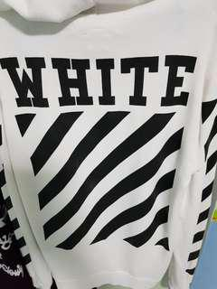 Offwhite plain front Hoodie/Sweater
