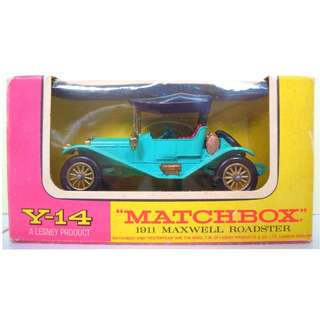 Lesney's Matchbox Y-14 1911 Maxwell Roadster (Models of Yesteryear Series)  * Original Super Vintage Set - Released in 1965 * Excellent Condition by Vintage Standards  (Diecast Vintage Car Collectible
