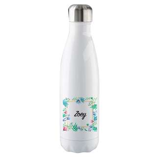 Personalised Name Custom Made Stainless Steel Bottle Travel Birthday Wedding Teachers Day Gift