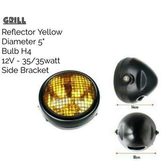 Motorbike/ Caferacer Headlight/ Lamp Grill