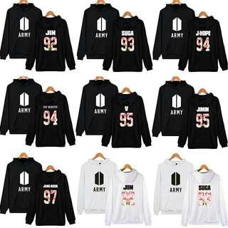 KPOP BTS Bangtan Boys Member Men & Women Cotton Hoodie Sweatshirt
