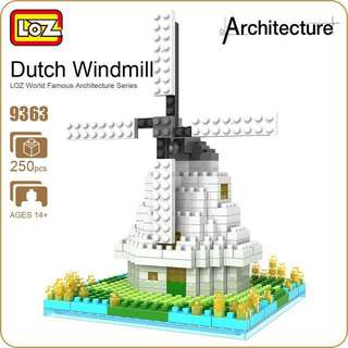 超抵玩 Loz block Dutch Windmill 風車 (勁似Nanoblock)