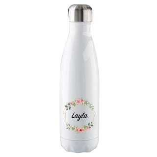 Stainless Steel Bottle Personalised Name Custom Made Birthday Wedding Teachers Day Gift