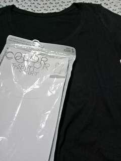 T shirt hitam uniqlo (reprice)