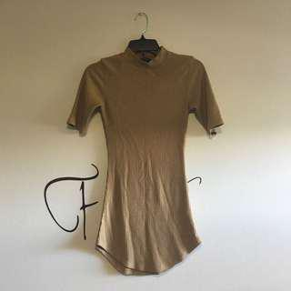 Sand Mock Neck Top
