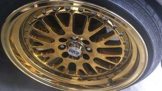 17inc gold wheel