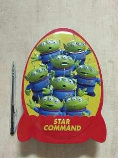 🚚 迪士尼 玩具總動員 三眼怪  火箭 空鐵盒 置物盒