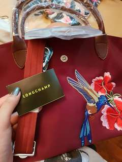 Longchamp bag with design