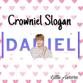 WANNA ONE Crowniel Slogan