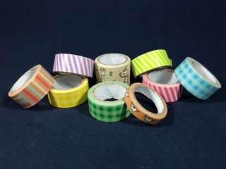 Lot of 9 Washi Tapes