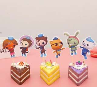 Octonauts party supplies - Octonauts cupcake toppers / dessert toppers / party deco