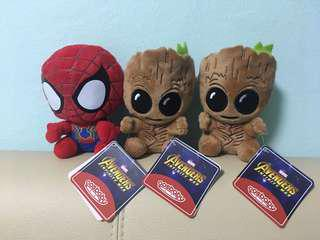 Soft Toy - avengers-Groot & Spider-Man