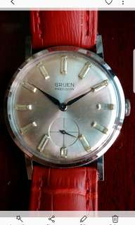 Vintage Gruen stainless steel hand wind watch