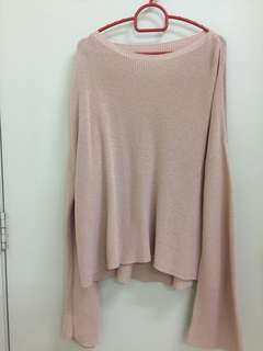 Knitted Top (baby pink)
