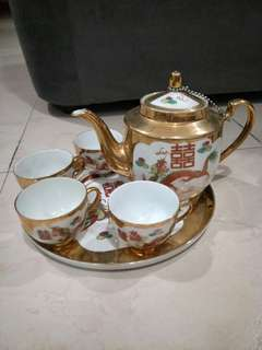 Chinese wedding teapot