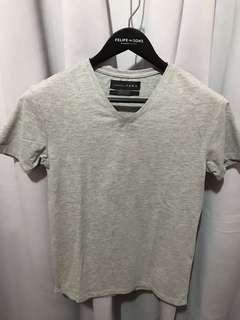 Zara Grey Superslim V-Neck Muscle Shirt