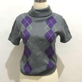 Atasan Turtleneck Rajut Sweater