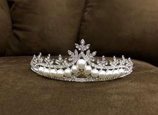 Pearl Bridal Crown MEDIUM