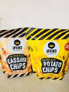 Irvins Salted Egg Chips 鹹蛋薯片 / 木薯片