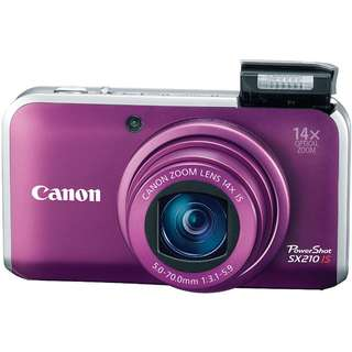 Canon Powershot SX210IS Digital Camera (Complete Accessories + Extra Battery)