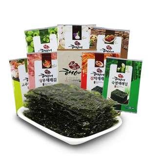 🚚 [現貨剛回國]韓國海女海苔 5款口味