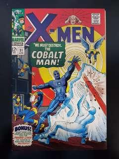 X-Men (vol.1) #31: 1st Cobalt Man (Ralph Roberts) & Candy Soutgern