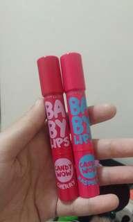 2pcs Maybelline Baby Lips - cherry & raspberry