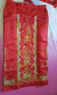 Hongkong Style Chinese Tradition Wedding Cloths 港版修身龙凤裙褂