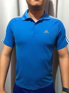 Adidas Blue Dri-fit Polo Shirt