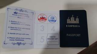 Fanpekka passport with 2 chops