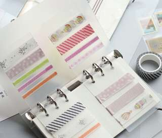 A5 & A6 Ring Planner Washi Tape Transparent divider