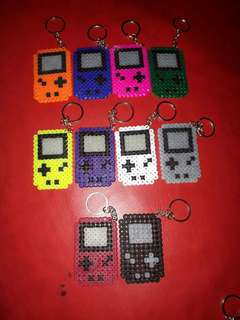 Mini Gameboy Perler Beads Key Chain