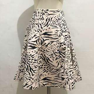Rok Pendek Animal Print Zebra