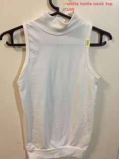 Brand new white turtle neck top